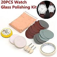 Tamaha - Juego de 20 almohadillas para orejas para pulir relojes de vidrio, limpiador de arañazos, almohadilla de pulido…