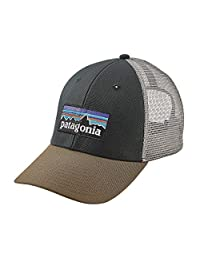 Patagonia P-6 LoPro Trucker Snapback Hat Carbon Mens One Size