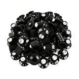 Musiclily Chrome Alu Top Plastic Witch Hat Control Knobs for Amp Effect Pedal Replacement, Black (Pack of 30)