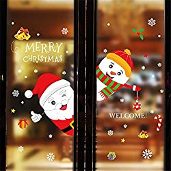 Merry Christmas and Happy New Year Household Room Window Wall Sticker Mural Decor Decal Removable HunYUN