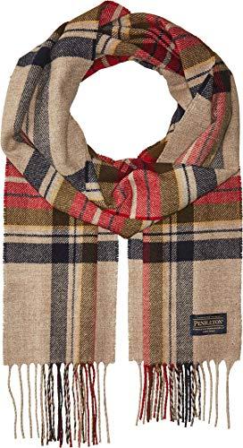 Pendleton Men's Whisperwool Muffler Scarf, Vintage Dress Stewart, One Size (Mens Dress Scarf)