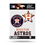 Houston Astros Triple Sticker Multi Decal Spirit Sheet Auto Home Baseball