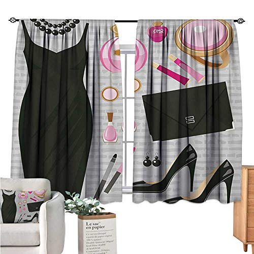 Bianca Clutch - Linhomedecor Heels and Dresses Small Window Curtain Black Smart Cocktail Dress Perfume Make Up Clutch Bag Black Pale Pink Pale Brown Curtain Panels W63 x L63