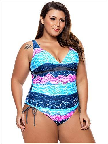 Pezzi Creativo Xxxl colore Patterns Modello Da Bassa Donna Bikini Dimensioni Di Dimensione Blu Stampato Warmhome Vita Grandi Costume Basso Bagno Blue Due A Patterns AqAwYdC