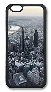 iPhone 6 Cases, London Aerial Miniature View Durable Soft Slim TPU Case Cover for iPhone 6 4.7 inch Screen (Does NOT fit iPhone 5 5S 5s for you 4 4s or iPhone 6 Plus 5.5 inch screen) - TPU Black
