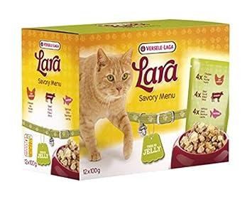 Lara Savory Menú grasa 100 gr x 48 (4,8 kg) comida Alimento húmedo Gatos: Amazon.es: Hogar