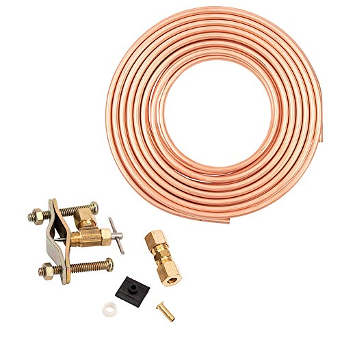 Choice Hose and Tubing Ice Maker And Humidifier Installation Kit by Copper Tubing, Includes Everything Necessary For Complete Installation
