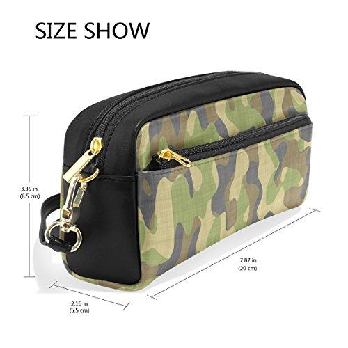 Bleistift Fall, Pen Tasche Make-up Tasche Geldbörse groß Kapazität Wasserdicht Camouflage