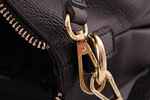 Única Única Handbag Talla Auténtica Big Beige Piel Bolso De Mujer Para Color Asas Shop BpWFZc6Ov
