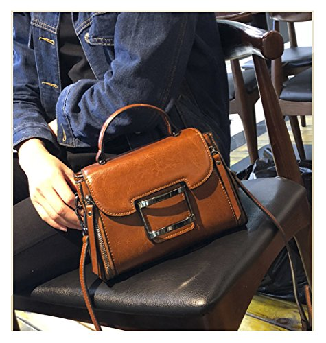 Cowhide Fashion Backpack Cowhide Womens HopeEye Fashion Crossbody grey Trends Bag 2 Brown Handbags 8Fqw5