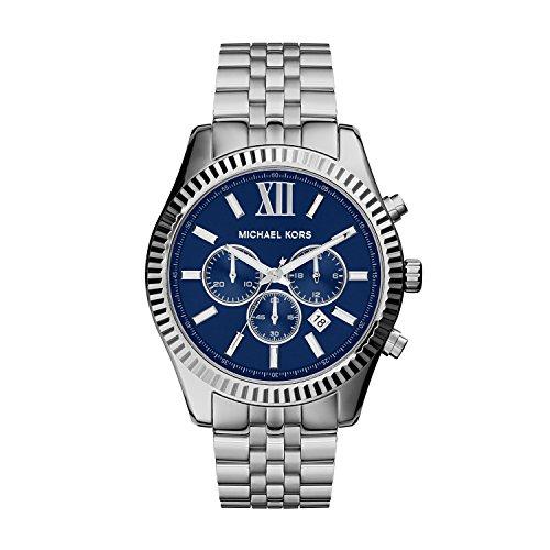 Michael Kors Men's Lexington Silver-Tone Watch MK8280 ()