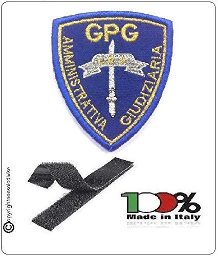 Patch Toppa Scudetto Ricamato con Velcro Guardia Particolare Giurata GPG Amministrativa Giudiziaria Art.NSD-2020