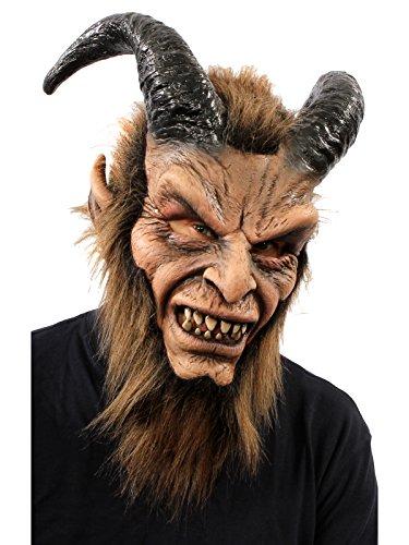 (ZAGONE Beautiful Beast Full Mask w/ Horns & Faux)