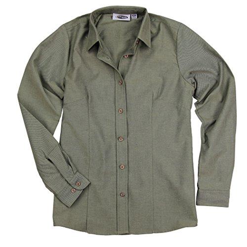 Edwards Women's Long Sleeve Point Collar Work Shirt Blouse (Cypress, X-Small)