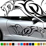 Jaguar car Sticker car vinyl side graphics pre48 Car Custom Stickers Decals 【8 Colors To Choose From】 JAPAN QUALITY Fast and Furious Lightning Car styling