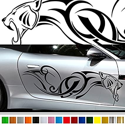 Jaguar car sticker car vinyl side graphics pre48 car custom stickers decals 【8 colors to