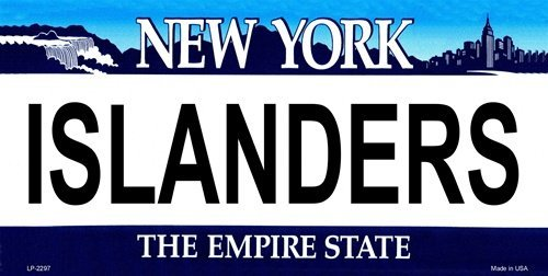 "LP-2297 ISLANDERS New York UyBVcDMeXz Novelty State Background Vanity Metal License Plate 5t3j21vX Tag Sign sign licence lisence plate metal ajasjsje45667890 hgjjjdnb nnbmvjdk erttyuiopighsder ghjvn vbncdfferttyui sddfghjjweq gjjei3i 6"" x 12"" stand"