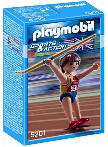 PLAYMOBIL 626727 - Olímpico Lanzamiento Jabalina: Amazon.es: Juguetes y juegos