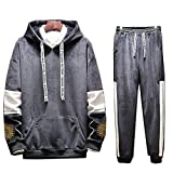 TOP Fighting Men Sweatpants,Men's Casual Joggers Pants Drawstring Waistband Closed Stripe Bottom Sweatpants Grey