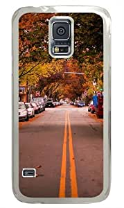 American Town Autumn Polycarbonate Hard Case Cover for Samsung S5/Samsung Galaxy S5 Transparent