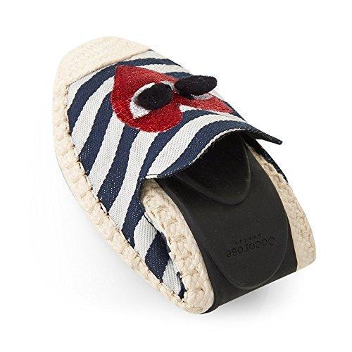 Cocorose Faltbare Schuhe - Carnaby Damen Espadrilles Nautisch Gestreift & Herz