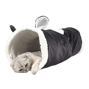 Juguete del Gato Túneles para Gatos, Cómodo Plegable Lindo Juguete Interactivo con Agujero para Conejos Gatitos Gato Negro: Amazon.es: Productos para ...
