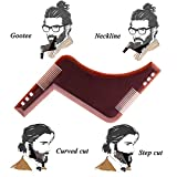 Facial Hair Styles For Thin Beards - Beard Shaper Tool, Beard Guide Tool with Comb for line up & edging. Trimmer or Razor Comb Shaping Your Beard & Facial Hair, Beard Template for Men by AGERIOS