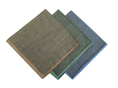ent Checkered Cotton Hankie Hankerchiefs gift set ((C)24.99(9PCS)) (Arizona Embroidered Long Sleeve)