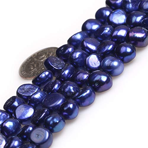 Freeform Freshwater Pearl Beads - Freshwater Cultured Pearl Beads for Jewelry Making Gemstone Semi Precious 7-8mm Freeform Blue 15