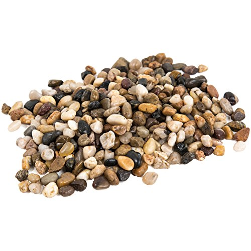 all Decorative Ornamental River Pebbles Rocks for Fresh Water Fish Animal Plant Aquariums, Landscaping, Home Decor etc. with Netted Bag, Natural (Water Fountain Pebbles)