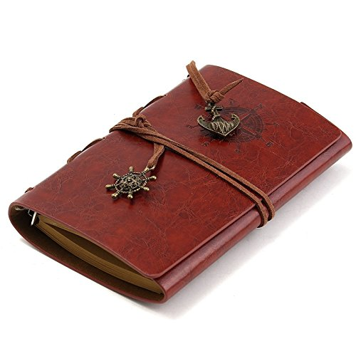 [Vintage Handmade Leather Cover Notebooks Personal Diary Journals Agenda Kraft Refill Paper Sketchbook Travel Notebook] (Circe Costume)