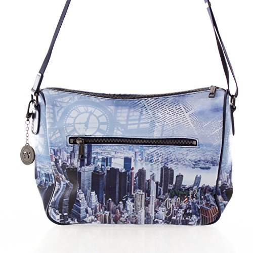 BORSA YNOT SHOULDER BAG H-370 BLM BLUE MANHATTAN