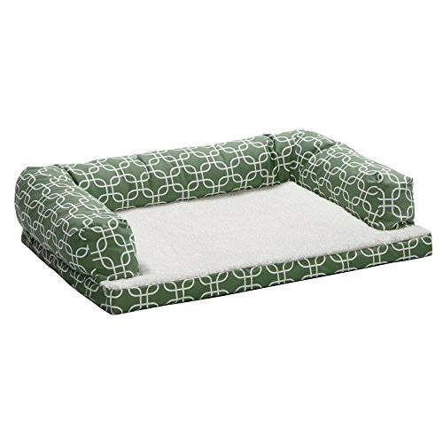 Midwest Homes for Pets BS3040T-FGR Bolstered Orthopaedic Dog Sofa, Large by MidWest Homes for Pets