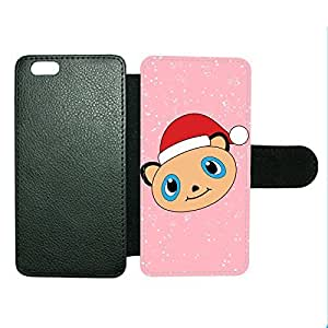 Case Fun Case Fun Christmas Cute Panda Faux Leather Wallet Case Cover for Apple iPhone 6 4.7 inch