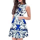 Gibobby Women's Hoodie Pocket Blouson Maxi Dress Blue