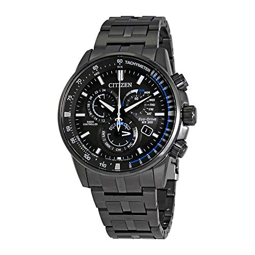 (Men's Citizen Perpetual Chrono A-T Charcoal Grey Dial and Stainless Steel Bracelet Watch AT4127-52H)