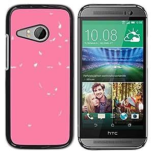 Paccase / SLIM PC / Aliminium Casa Carcasa Funda Case Cover para - Abstract Leaves Baby Clean Minimalist - HTC ONE MINI 2 / M8 MINI