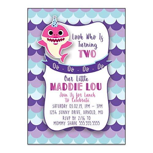 Baby Shark | Birthday Party Invitation | Personalized