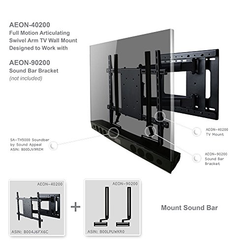 Aeon Stands and Mounts 40200 full motion TV wall mount with 28'' Extension (Black) by Aeon Stands and Mounts (Image #1)