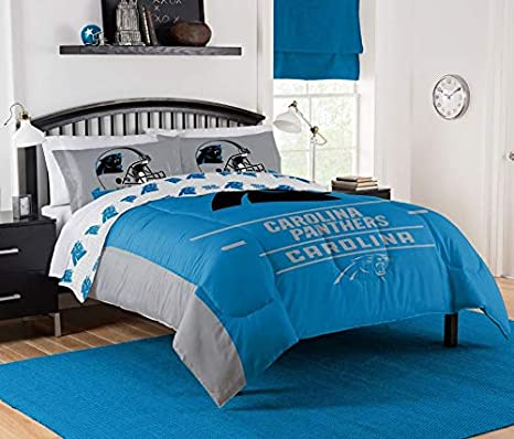 """8dc7ab49fcf Image Unavailable. Image not available for. Color: The Northwest Company NFL  Carolina Panthers """"Monument"""" Full/Queen Comforter ..."""
