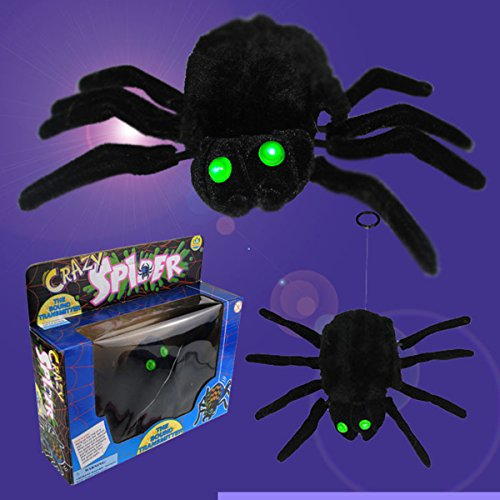LIFEET Halloween Trick Toy Electronic Funny Spider Voice spider Hanging line electric lift horror Halloween bar supplies whole toys for Halloween Christmas Funny toys Horror (Halloween Talking Dog Toys)