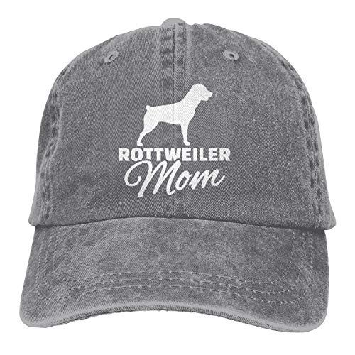 (Endool Rottweiler Mom Mens Cotton Adjustable Washed Twill Baseball Cap Hat)