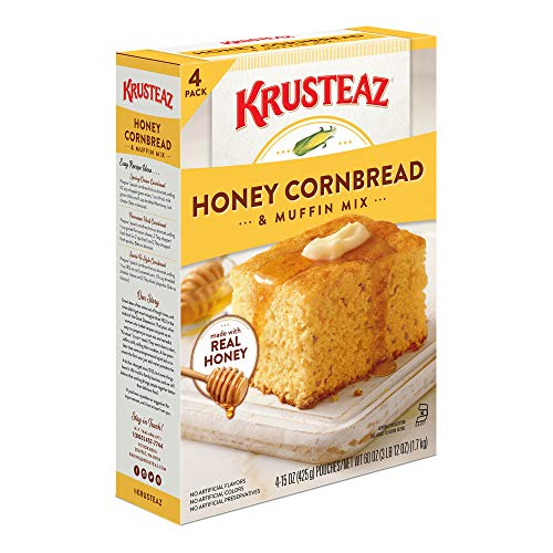 - Krusteaz Natural Honey Cornbread and Muffin Mix, 60 oz.