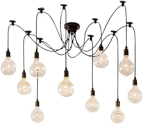 10 Head Industrial Vintage Edison Chandelier Pendant Ceiling