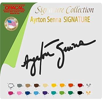 Ayrton Senna Signature F1 Racing Vinyl Sticker Decal Black