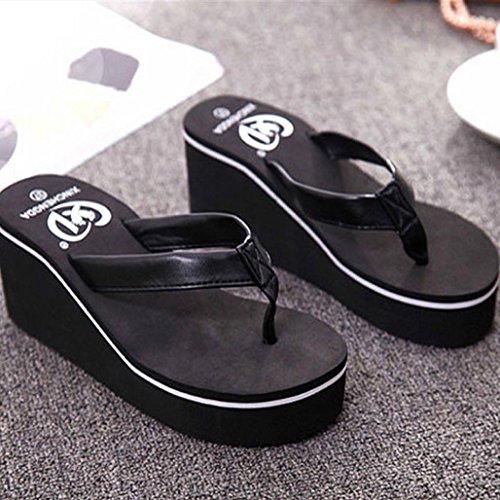 Rawdah , Damen Hausschuhe schwarz schwarz Schwarz