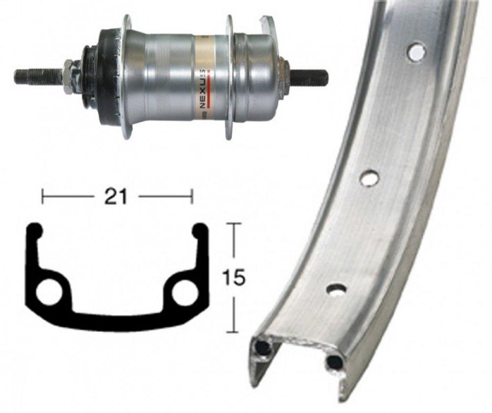 Bike-Parts 26´´ Hinterrad Alu-Felge + Nabenschaltung Shimano 3-Gang (RB)
