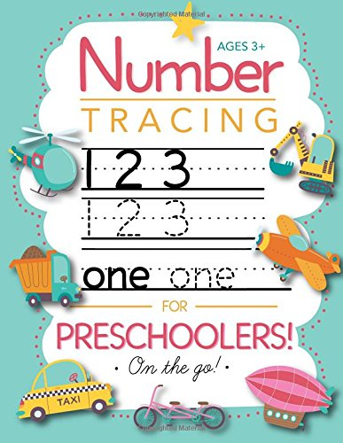 Number Tracing Book for Preschoolers and Kids Ages 3-5: Trace Numbers Practice Workbook for Pre K, Kindergarten and Kids Ages 3-5 (Math Activity Book) cover