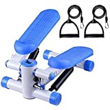 Office Fitness Twist Stepper with Bungee Cords Blue/White Mini Twist Stepper Fitness Workout Machine