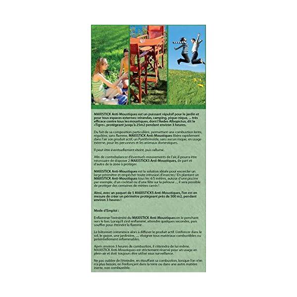 HBM Anti-Moustiques 001-RE-BAT001 5 Maxisticks Anti zanzare 3 spesavip